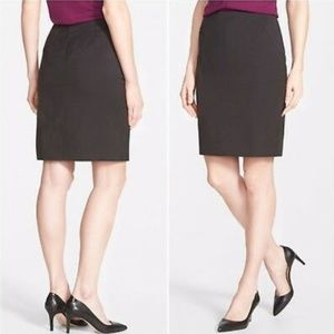 NEW Halogen Taupe Brown Seam Lined Pencil Skirt 6